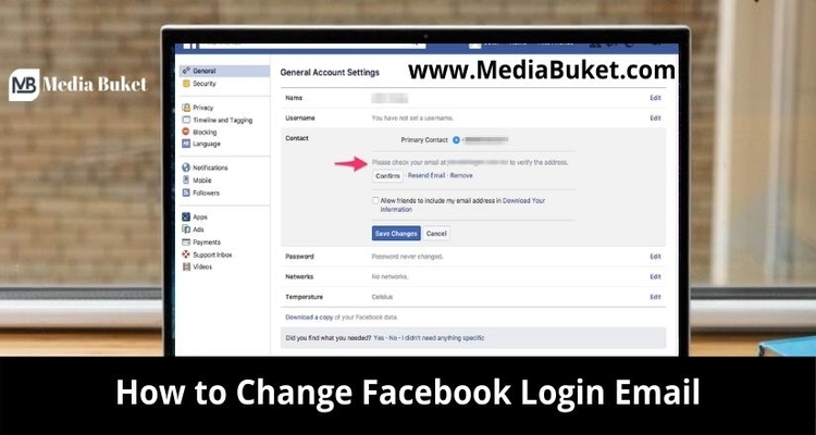 How to Change Facebook Login Email