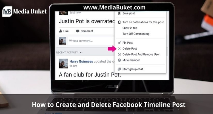 How to Create and Delete Facebook Timeline Post