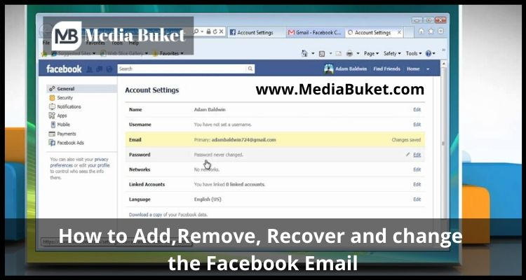 How to Add, Remove, Recover and Change Facebook Email